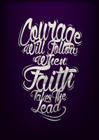 Courage typography design
