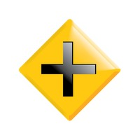 Popular : Cross road ahead road sign