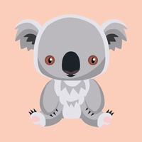 Cute koala bear cartoon