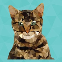 Cute polygonal cat