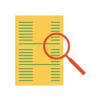 Popular : Document with magnifying glass
