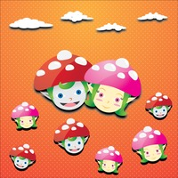 Popular : Elves with mushroom caps background