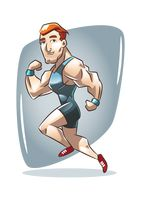Popular : Fit and healthy man running