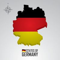 Popular : Flag of germany map