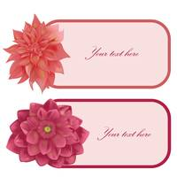 Floral label set