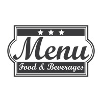 Food and beverages menu logo icon