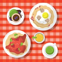 Popular : Food served on checkered table cloth