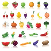Fruits and vegetable collection