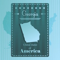 Georgia Map Maps State States America Usa Travel Travels - Georgia map label
