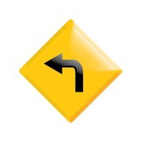 Popular : Go left road sign
