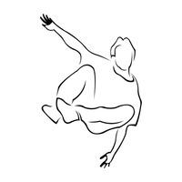 Hip Hop Hiphop Dancer Dancers Dancing Dance Dances Outline ...