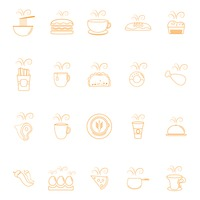 Hot food icons