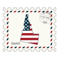 Idaho postage stamp