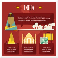 India travel infographic