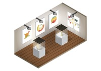 Isometric art gallery interior