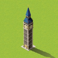 Isometric clock tower