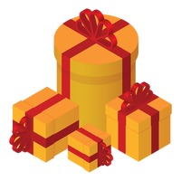 Popular : Isometric gift boxes