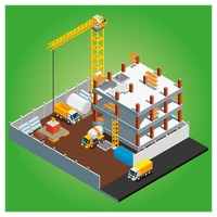 Isometric of construction site