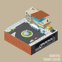 Isometric subway station