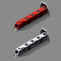 Isometric train with tunnel