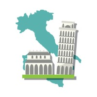 Popular : Italian map with pisa tower