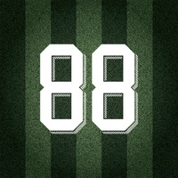 Jersey number on striped background