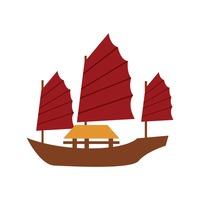 Junk Boat Sailboat Sailboats Yacht Vehicle Vehicles Transport Sail