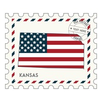 Kansas postage stamp