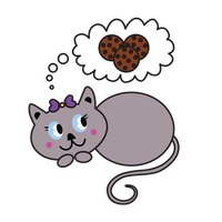 Popular : Kitten dreaming about cookies