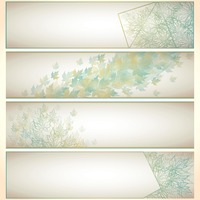 Leaves banner collection