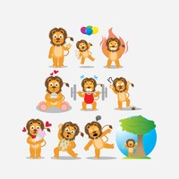 Popular : Lion with different actions