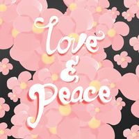 Love and peace typography design