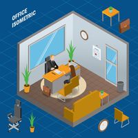 Manager office isometric
