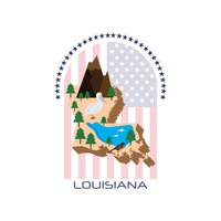 Map of louisiana state