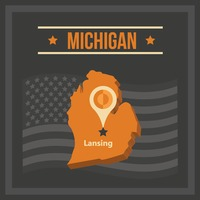 Map of michigan state