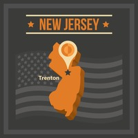 Map of new jersey state