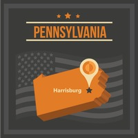 Map of pennsylvania state