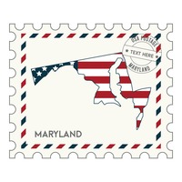 Maryland postage stamp