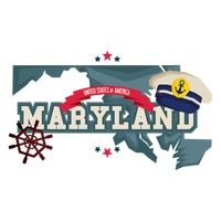 Maryland with ship wheel