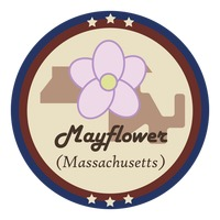 Massachusetts state with mayflower