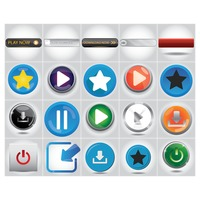 Popular : Media button collection