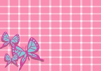 Mesh background with butterfly