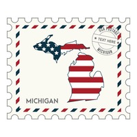 Michigan postage stamp