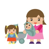 Popular : Mother with children