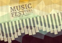Music festival in town poster design
