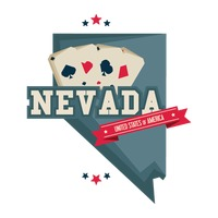 Nevada map with casino