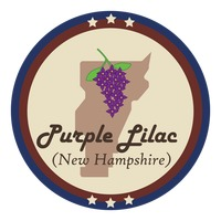 New hampshire state with purple lilac flower