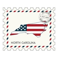 North carolina postage stamp