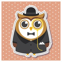 Owl as a gentleman