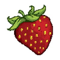 Pixelated strawberry